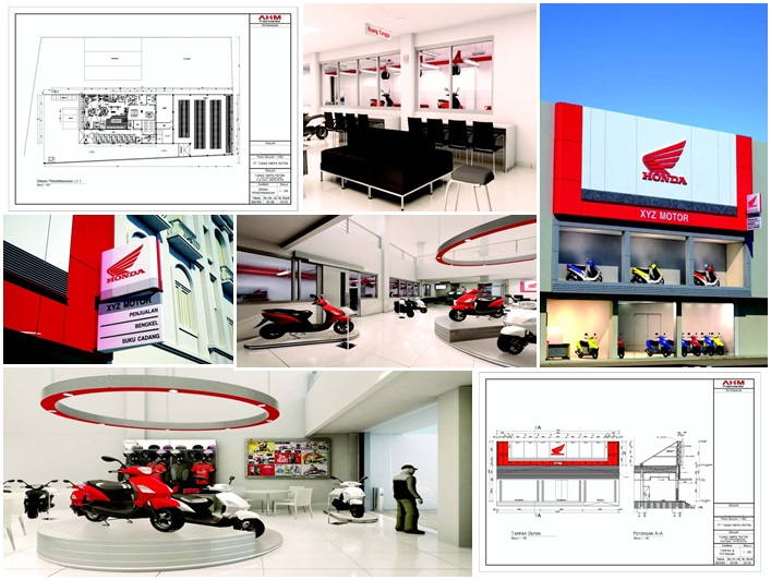 Design Layout and Supervision Consultant Redevelopment  Interior and Exterior Dealer Motor Honda